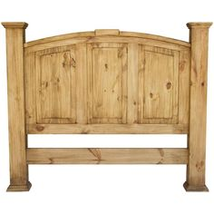 La Fuente Imports Queen Roma Mexican Rustic Pine Headboard 64W X 53H From