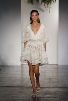 Zimmermann Resort 2018 Collection while lace dress