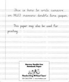 Handwriting Without Tears Regular Notebook Paper For Grades