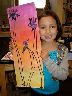 Jamestown Elementary Art Blog: 1st Grade Dali Birds.. Warm/cool colors…
