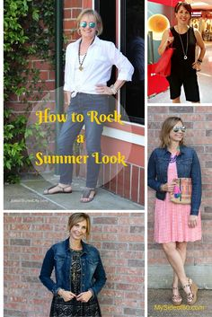 Three Fashion Bloggers show how to style a classic look for summer - the white blouse, Bermuda shorts and a denim jacket.