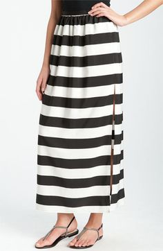 Wide Stripe Maxi Skirt