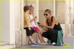 Nicole Richie and Joel Madden take the kids sight-seeing in France on July 24, 2013