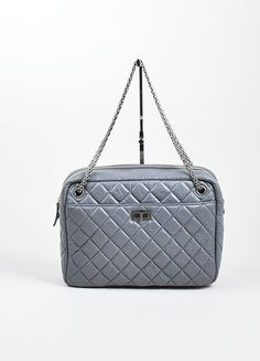 Chanel Grey Reissue Large Camera Bag