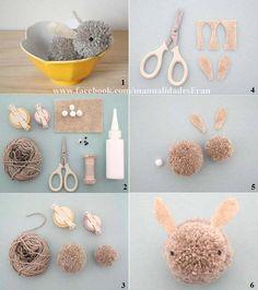 Conejo de pompones!