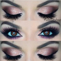 Love the pop if purple on the lower lash line