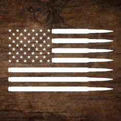 USA American Flag with Rifle Ammunition. This decal can be applied to any clean smooth surface. Car windows, laptop etc. Choose the size…