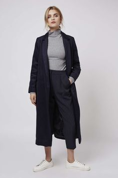 PETITE Pinstripe Peg Trousers - Petite - Clothing - Topshop