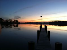 Sunrise on the Miles River in Easton, MD.