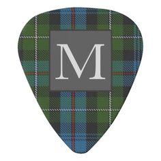MACKENZIE TARTAN Letter M Monogram ( Can Edit) HIM Guitar Pick Mackenzie  Tartan 550ef9c43