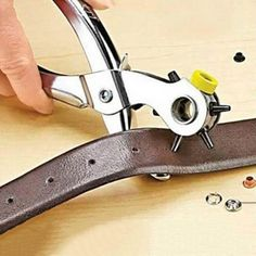 Useful Multi-function Portable Puncher Heavy Duty Leather Hole Punch Hand Pliers Belt Holes Punches