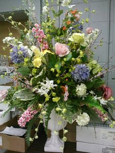 Flower arranging in a 12 tall vase home shop at home silk florals silk church pc i did spring floral mightylinksfo