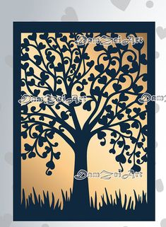 Tree Wedding Invitations, Wedding Cards, Silhouette Cameo Boxes, Art Template, Templates, Rustic Wedding, Our Wedding, Wedding Ideas, Tree Of Life Art