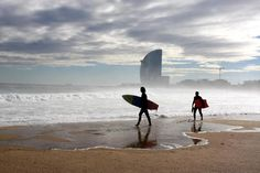 I wanna surf Barcelona style Barcelona Bars, Moving To Barcelona, Barcelona Catalonia, Barcelona Travel, Barcelona Hotels, Places Around The World, Oh The Places You'll Go, Places To Visit, Costa