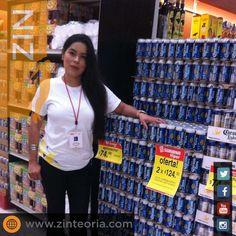 Centro de canje con #demostradoras para Corona 🍺 en tiendas de autoservicio y de conveniencia. #Marketing #BTL  #AdvertisingAgency