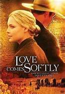 when marty (Katherine Heigl) loses her husband in a horseback accident she is left without a roof over a head and marries a man for security with the promise that shed be allowed to go home after winter..however she becomes homemaker to his young daughter at the time and eventually realises shes carrying her late husbands baby, in the process she falls for the stranger shes married through the love she sees he truly has, as a father and a human being ...Love really does come softly in this:)