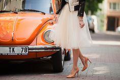 #retro #midi #skirt #inspiration #style #fashionblogger #moda #nude #pumps #romantic