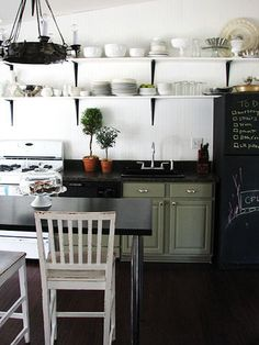 Grey and black? Eh, not too bad but the chalk board paint on the fridge could be fun.
