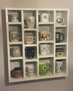 16 Coffee Cup Display Shelf by caffeineandme on Etsy