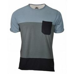 BLOCK TEE (DIRTY BLUE)