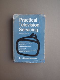 Vintage 60s TV repair manual Practical Television Servicing  TV technology book technical detail technological history TV repair textbook