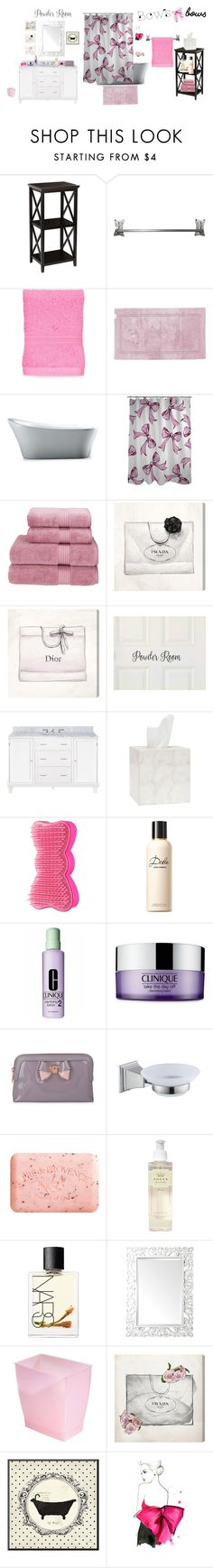 """""""Bath Bows"""" by powdermeperfect ❤ liked on Polyvore featuring interior, interiors, interior design, home, home decor, interior decorating, Flamant, Abyss & Habidecor, One Bella Casa and Christy"""