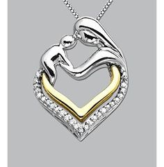 I really really really want this... <3 it's perfect! Product: Diamond Mother & Child Heart Pendant