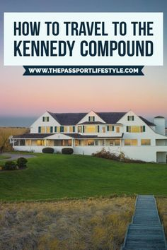 How to travel to the famous Kennedy Compound in Hyannis Port Cape Cod! One of Massachusetts's most beautiful and historical homes and destinations. More travel trips for Boston on Hyannis Cape Cod, Hyannis Port, New England Fall, New England Travel, Cape Cod Massachusetts, Hyannis Massachusetts, Barnstable Massachusetts, Cape Cod Vacation, Boston Vacation