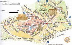Urbino map - Marche, Italy