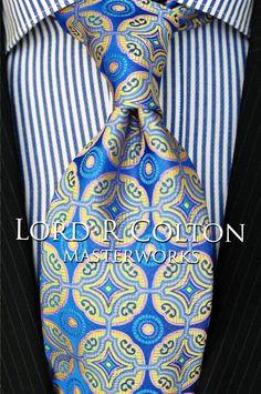 Lord R Colton Masterworks Tie - Isla Negra Resort Blue Silk Necktie - $195 New #LordRColton #NeckTie