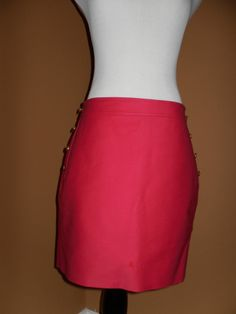 NWT J CREW Women's Postage Stamp Sailor Mini Skirt, RED, Size 10 SOLD OUT ONLINE