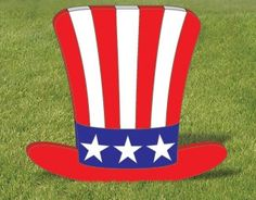 Uncle Sam Hat Wood Outdoor Yard Art Ornament 4th of by chardoman