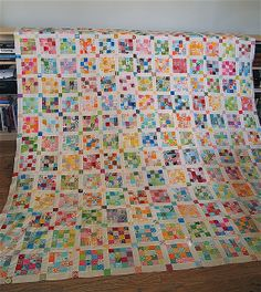 Made by philistinemade  the postage stamp quilt top is finished!    This is beautiful!