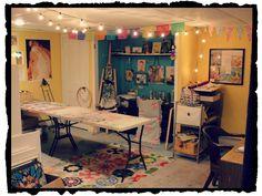 Elegant Basement Art Studio