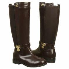 Kids MICHAEL MICHAEL KORS   Parson 2 Tod Pre Grd Chocolate Brown Shoes. 3b437eb347b