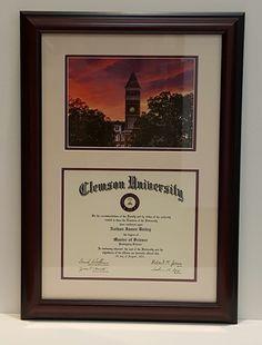 Custom framed diplom