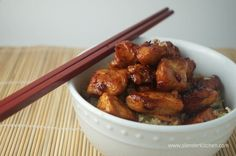 Honey Garlic Chicken - Easy low-fat recipe for the crockpot - serve it over rice with stir-fried veggies - or for a low-carb meal, toss it on a salad or wrap it up in some lettuce.