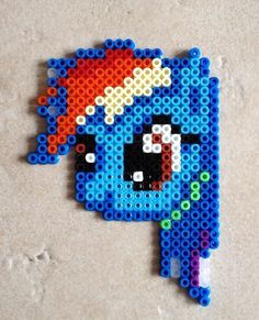 My Little Pony Rainbow Dash Perler Bead