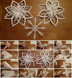 How to Make 3D Paper Snowflake