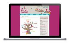 Le Microcosme, centre de vie enfantine / Identité graphique & website © alafolie