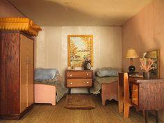 vintage Triang dolls house bedroom