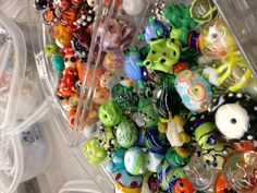 Glass beads made by Hilltop Artists