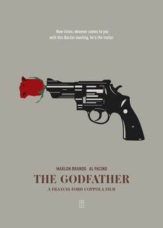 THE GODFATHER: Minimalist Movi. poster by from collection. The Godfather Poster, The Godfather Wallpaper, Godfather Quotes, Godfather Movie, Minimal Movie Posters, Minimal Poster, Gangster Movies, Comedy Movies, Gangsters