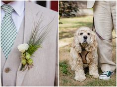 this couple's pup served as ring bearer | Red Sparrow Photography