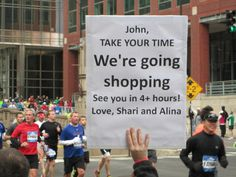 """The Best, Most Hilarious Marathon Signs Of - Some pretty good ones. Running Signs, Running Posters, Running Humor, Running Quotes, Running Workouts, Funny Running, Ironman Triathlon Motivation, Encouragement, Inspirational Signs"