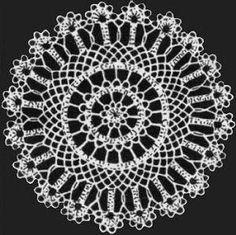 "Doily with Scalloped Edge Doily Crochet Pattern 8"" - KarensVariety.com"
