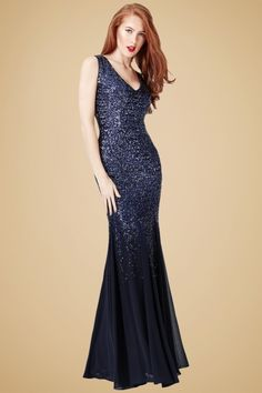 Vintage Chic Navy Sequin Dress 108 31 20013 20160928 1