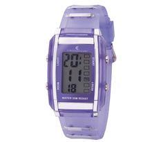 #CRISTIANLAY #Reloj Crono con caja en material plástico ABS. #MORADO #LILA #PURPLE