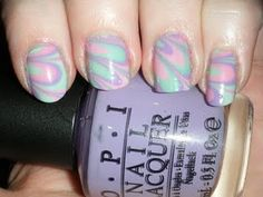 Pastel Pink/Mint/Lilac Water Marble
