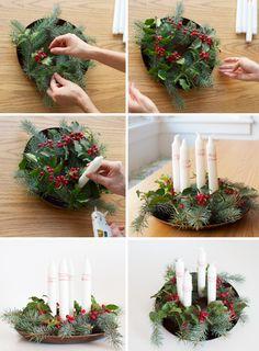 advent wreath   One More Mushroom